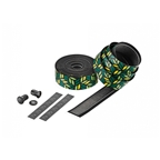 Ciclovation Leather Touch Handlebar Tape, Rainforest Tree w/Black