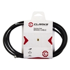 Clarks MTB Brake Cable Replacement Set, 1.5 x 2000/2100mm, Black