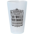 Surly Dr. Chromoly's Silicone Pint Glass - Frosted White, Black, 16oz