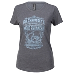 Surly Dr. Chromoly's Elixir Women's T-Shirt - Heather Dark Grey, Light Blue