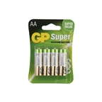 GP Alkaline AA Batteries, 4 Pack