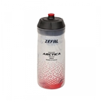 Zefal Arctica 55 Insulated Water Bottle, 18.5oz, Silver/Red