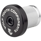 Wolf Tooth Compression Plug with Integrated Spacer Stem Cap, Black