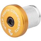 Wolf Tooth Compression Plug with Integrated Spacer Stem Cap, Gold