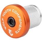 Wolf Tooth Compression Plug with Integrated Spacer Stem Cap, Orange