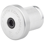 Wolf Tooth Compression Plug with Integrated Spacer Stem Cap, Silver