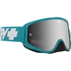 SPY+ WOOT RACE Goggles, Teal Checkers/Smoke with Silver Spectra HD Clear Lenses