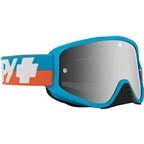 SPY+ WOOT RACE Goggles, Bolt Blue/Smoke with Silver Spectra HD Clear Lenses