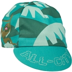 All-City Night Claw Cycling Cap - Teal, Spruce Green, Ochre Brown