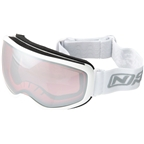 Optic Nerve Snoasis Goggles - White High Contrast Rose Lens with Silver Mirror