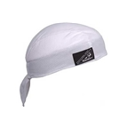 Headsweats Shorty Skull Cap: One Size White