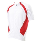 Bellwether Pro Mesh Jersey - White with Red Stripes