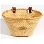 Nantucket Lightship Oval Bike Basket Natural