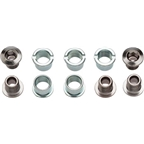 Sugino Single Chainring Bolt Set of 5 Chromed Steel