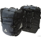 Axiom Lasalle Deluxe Pannier Set: Black/Gray