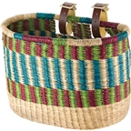 House of Talents Oblong Bike Basket: Assorted Colors
