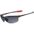 Dual SL2 Sunglasses: +1.5 Power Magnification; Black Frame/Smoke Lens