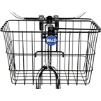 Wald 3133GB Front Quick Release Basket with Bolt-On Mount: Black