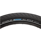 "Schwalbe Big Apple Tire, 26 x 2.35"" Wire Bead Black with Reflective Sidewall and RaceGuard Protection"