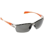 Native Eastrim Sunglasses: Crystal/Orange with Gray Gray Polarized Lens