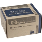 "Q-Tubes 26 x 1.9-2.125"" Superlight 48mm Presta Valve Tube"