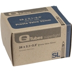 "Q-Tubes 26 x 2.1-2.3"" Superlight 32mm Presta Valve Tube"