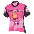 World Jerseys Biker Chick Jersey - Pink - Short Sleeved