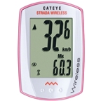 Cateye Strada Wireless CC-RD300W Pink/White