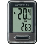 Cateye Velo 9 Cycling Computer; 9 Functions; CC-VL820 Black