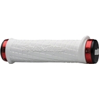 ODI 130mm Troy Lee Lock-On Grips: White/Red