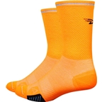 "DeFeet Cyclismo Reflector 5"" Sock: Hi Vis Orange"
