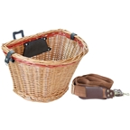 Sunlite Wicker Quick Release Front Basket - Honey/Red