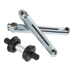 Redline Flight Tubular Chromo Crank Arm Set 180mm Chrome
