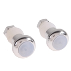 Bicycle Turn Signal Bar End Indicator Lights - Silver