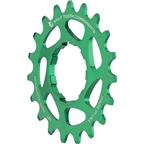"""Wolf Tooth Components Single Speed Aluminum Cog: 19T, Compatible with 3/32"""" Chains, Green"""