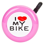 Sunlite Bell I Love My Bike Pink
