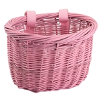Sunlite Willow Mini Strap On Bike Basket Pink