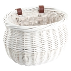 Sunlite Willow Bushel Strap-On Basket White