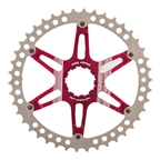 Fouriers Oversized Cassette Cog 42T Silver/Red CR-DX008