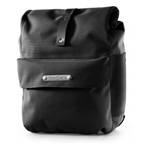 Brooks Norfolk Front Travel Panniers w/ Roll Top - Black/Black
