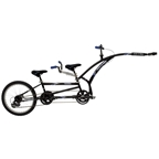 Adams Folding Tandem Trailercycle Black