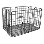 Sunlite Folding Wire Basket Black