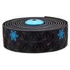 Supacaz Super Sticky Kush Bar Tape, Galaxy Black w/Neon Blue