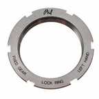 "Phil Wood Stainless Steel Track Lockring, 1.32"" x 24 tpi Left-Hand Thread"