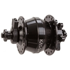 Kasai Dynacoil D6 IS-disc F Q/R Hub, 9x100mm, 36h - Black