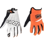 100% Ridecamp Men's Full Finger Glove: Orange