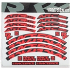 RaceFace Decal Kit for Arc 35 Rims, Red