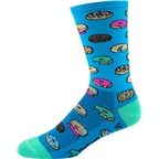 "DeFeet Aireator 6"" Doughnut Sock: Process Blue"