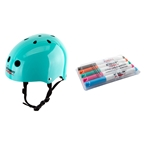 Triple Eight Wipeout Helmet Teal Blue Medium