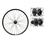 "Wheel Master 26"" MTB  Wheel Set Disc QR 8/9/10 Spd Black"